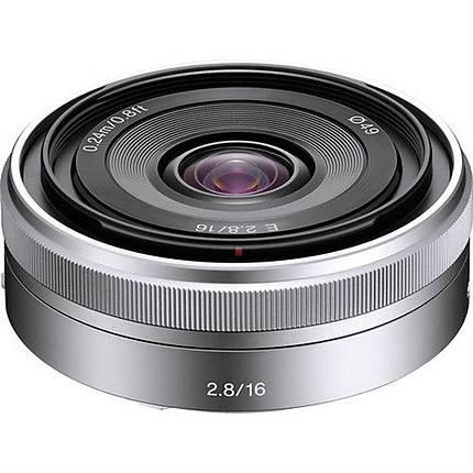 Sony E-Mount 16mm f/2.8 Wide-Angle Alpha E-Mount Lens - Silver
