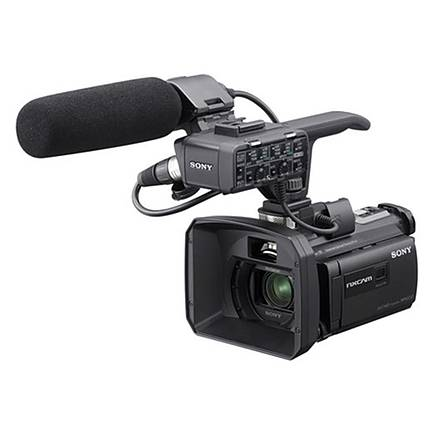 Sony 96gb hxr nx30 palm size nxcam hd camcorder with for Palm projector