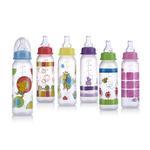 Nuby 8oz Clear Leak-Proof Bottle
