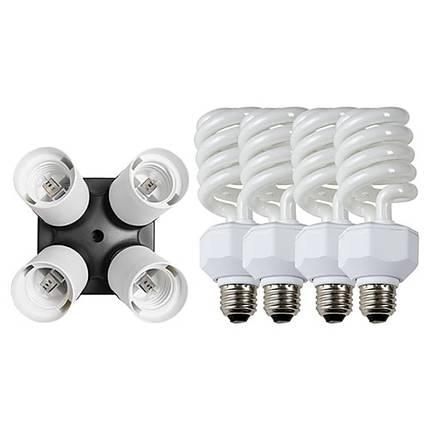 Westcott Daylight Fluorescent 4-socket Adapter Kit