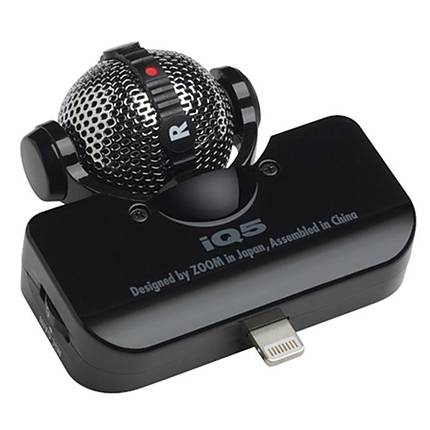 Zoom iQ5 Stereo Microphone for iOS Devices with Lightning Connector (Black)