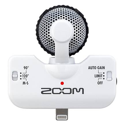 Zoom iQ5 Stereo Microphone for iOS Devices with Lightning Connector (WHITE)