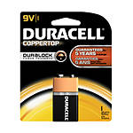 Duracell Coppertop 9V (1-pack) Alkaline Batteries (cs=48cards, 4bx x 12cards