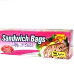 Sandwich Bags 50ct Zip Seal Home Select Brand
