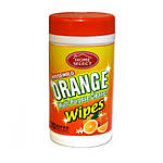 Orange Cleaner Wipes Multi-Purpose 35ct Canister Home Select